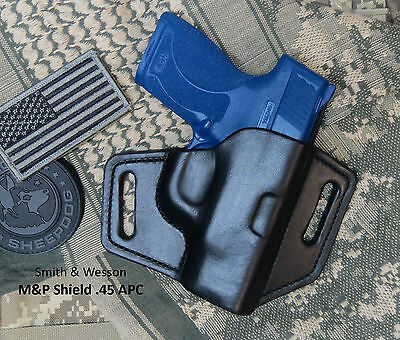 Sweat Shield Made in USA M/&P Shield Leather Holster .45 ACP Smith /& Wesson