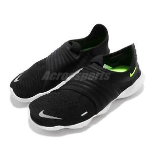 low priced 6d4b0 b301c Details about Nike Free RN Flyknit 3.0 Black Volt White Men Running Shoes  Sneakers AQ5707-001
