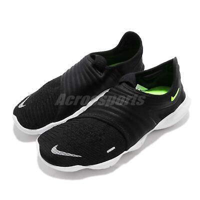 Nike Free RN Flyknit 3.0 Black Volt White Men Running Shoes Sneakers AQ5707 001 | eBay