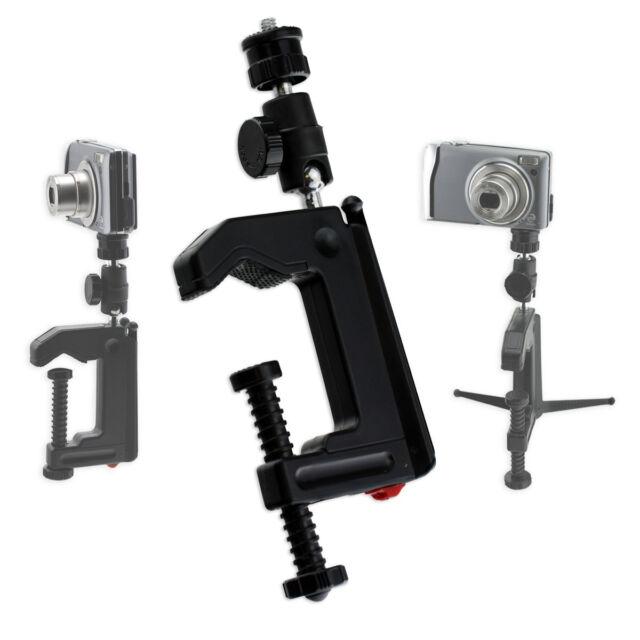 Portable Table Desk Mini Camera Mounting Clamp Tripod for Camera Camcorder DSLR