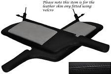 BLACK Stitch Adatta Mitsubishi GTO 3000GT 92-99 2x SUN VISIERE IN PELLE copre solo