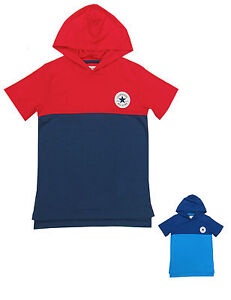 Converse-Garcons-Pull-over-Capuche-Pull-a-capuche-T-Shirt-Tout-Star-Ages-8-Ans