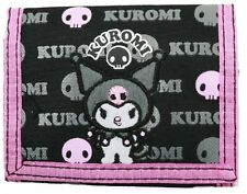 Sanrio Kuromi Black and Pink Kids Wallet, New