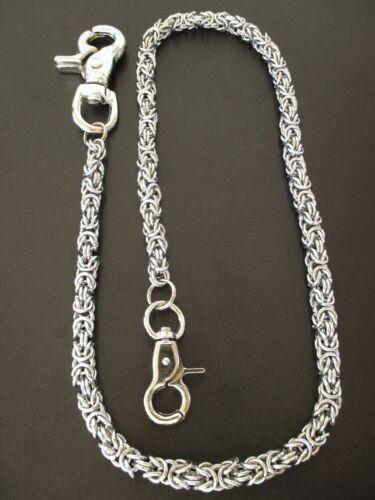 Schlüsselkette Königskette aus Edelstahl mit zwei Karabinern Hosenkette