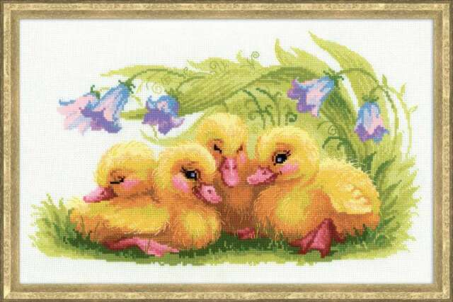 RIOLIS COUNTED CROSS STITCH KIT Funny Ducklings Animals Embroidery Needlework