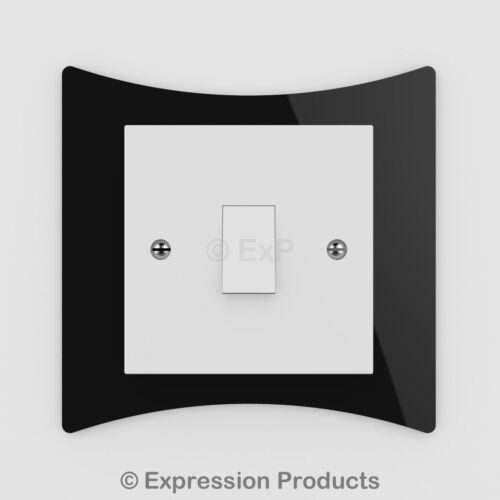 Double//simple interrupteur de lumière prise de courant plaque arrière finger surround panel 008
