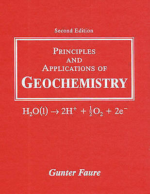 1 of 1 - USED (GD) Principles and Applications of Geochemistry (2nd Edition) by Gunter Fa
