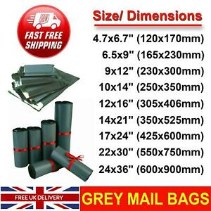 STRONG-GREY-MAILING-BAGS-SELF-SEAL-POLY-POSTAL-POSTAGE-POST-MAIL-CHEAP-UK-SELLER