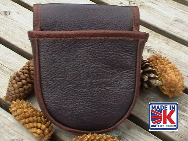 LEATHER SHOOTING CARTRIDGE BAG POUCH CLAY PIGEON SKEET SHOOTING SHOOTERS BABM