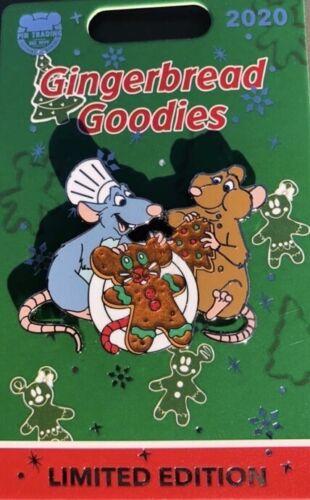 Disney 2020 Disneyland Ratatouille Remy /& Emile Gingerbread Goodies Pin LE 1500