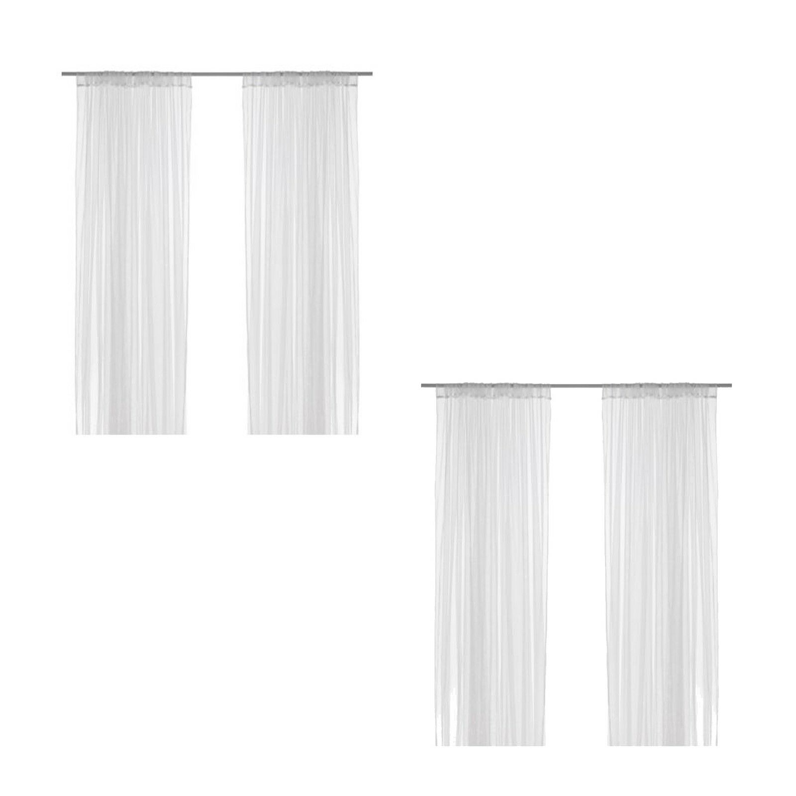 Superior 2 X Pairs Of IKEA LILL SHEER Net Curtains