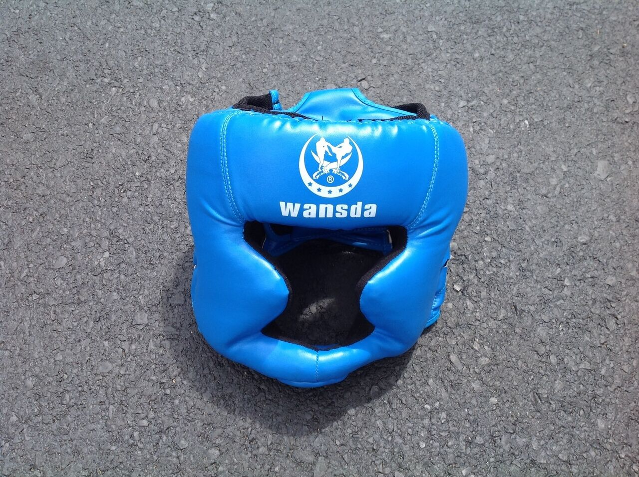 Inflatable Accessories Boxing Helmet bluee