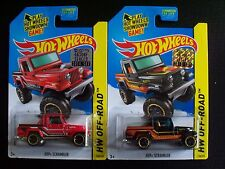 2014 HOT WHEELS LOT OF 2 Jeep Scrambler (black & red) from FACTORY SEALED SET