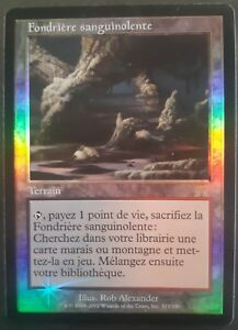 Fondriere-sanguinolente-PREMIUM-FOIL-VF-Carnage-French-Bloodstained-Mire-Mtg