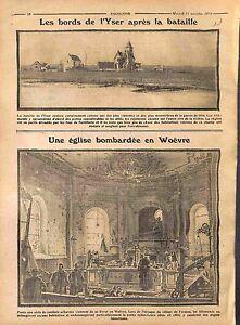"""Bataille de l'Yser/Bombardement Eglise de Fresnes Woëvre Lorraine WWI 1914 - France - Commentaires du vendeur : """"OCCASION"""" - France"""