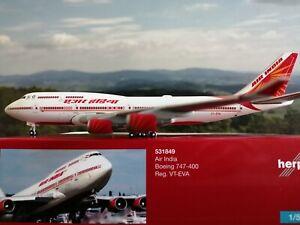 531849-Boeing-B-747-400-AIR-INDIA-1-500-VT-EVA-Herpa-Wings-Club-Modell-NEUWARE