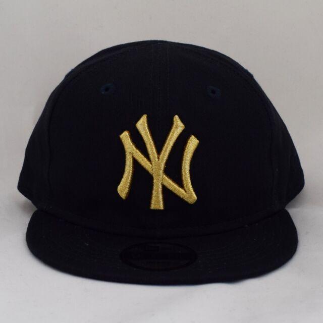 New Era Kids Infant 9Fifty Gold on Navy Adjustable Snapback Baby Cap Hat