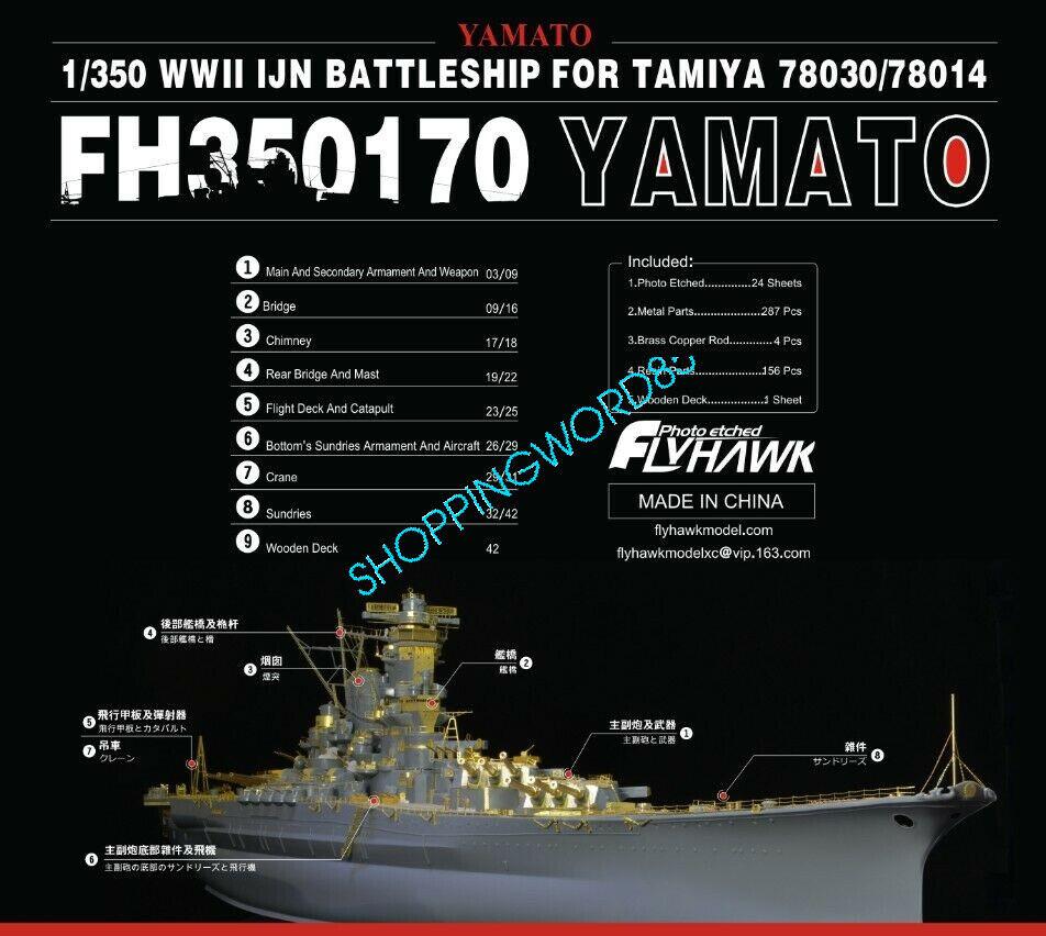 flygagaghök 1  350 350170 IJN Yamato för Tamiya av högsta kvalitet