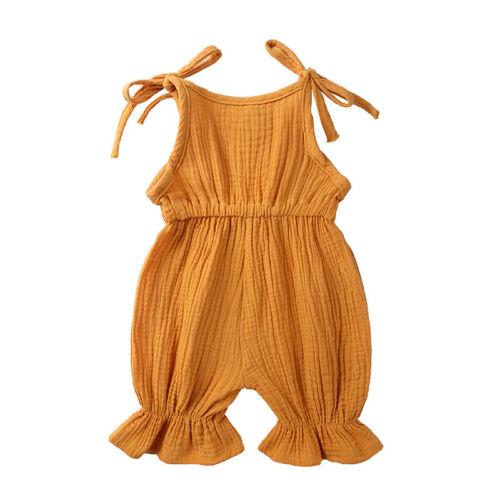 Newborn Girls jump suit COTTON/&LINEN Baby Romper Pants New Style Summer Clothing