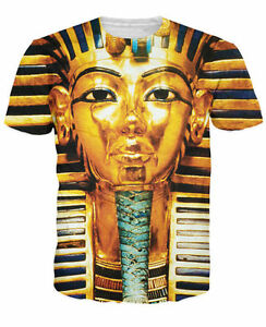 New Women Men Fashion Gold Pharaoh 3D Print Casual T-Shirt  SW7