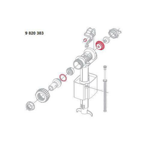 Ersatzteil für Füllventil F10 TECE Dichtungsset 9820383 TECEspültechnik