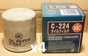 VIC-C-224-Oil-Filter-X4-BULK-PACK-for-NISSAN-200SX-S14-S15-Silvia-350Z-370Z-N15