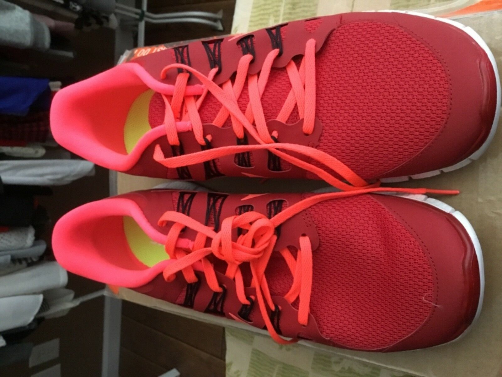 Nike Free 5.0+ Running Shoes Size 12 Mens White Red BNIB Rare Sold Out Free Plus