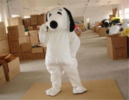 Dog Snoopydog character fancy dress cos party game Mascot Costume Adult Suit set