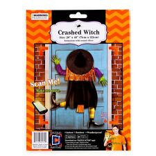 """Crashed Witch Door or Window Halloween Decoration 48"""" tall New"""