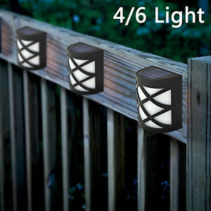 SOLAR-POWERED-FENCE-LIGHTS-STEP-DOOR-WALL-BRIGHT-4-6-LED-LIGHT-GARDEN-DECORATION
