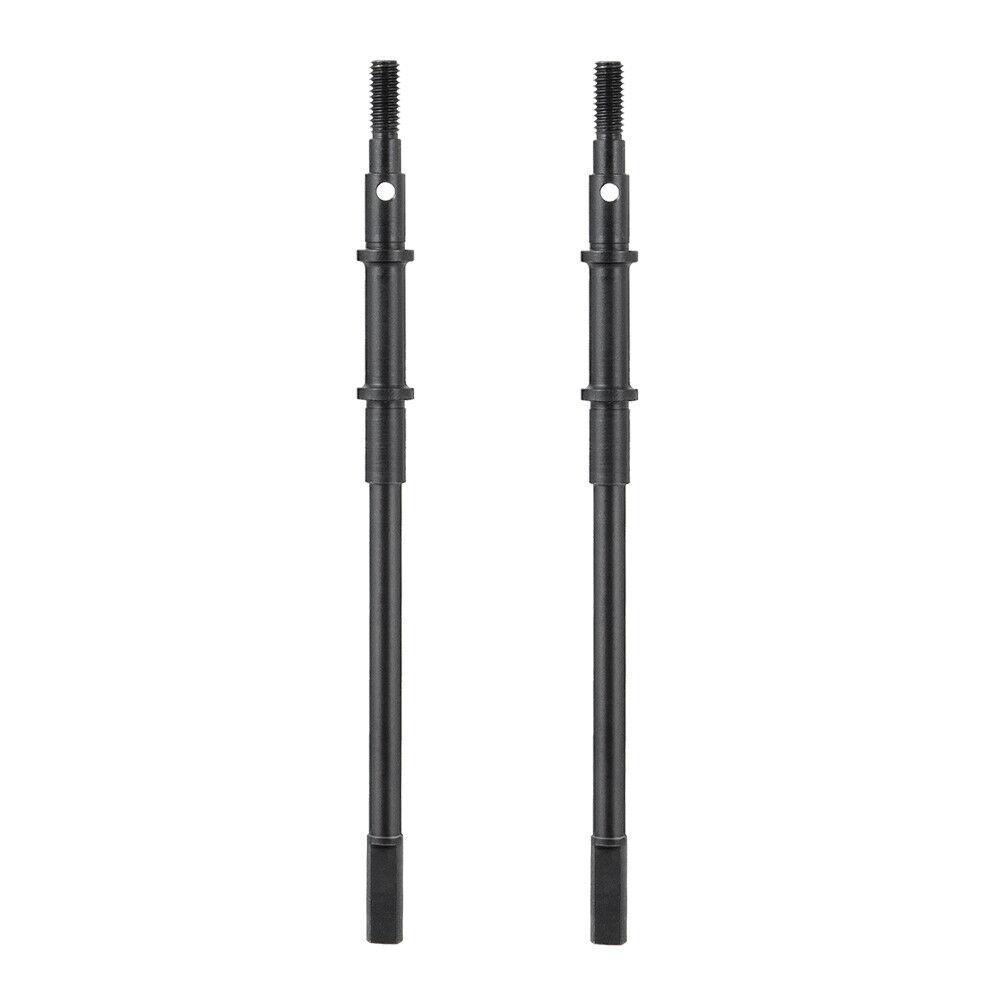 2 STÜCKE Edelstahlwelle CVD Antriebswelle für axiale SCX10II AX90046 RC Schiene