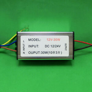 30w waterproof dc led driver 12v~24v power supply lamp light bulb 32image is loading 30w waterproof dc led driver 12v 24v power