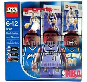 NEW-LEGO-3567-NBA-Collectors-Sports-Chris-Webber-Tracy-McGrady-Houston-Minifigs