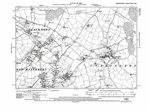 Old Map of Cubbington Leamington Spa N Warwickshire 1926