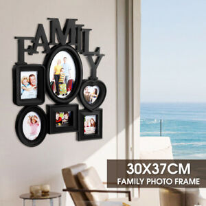 Family Wall Hanging Collage Photo Frame 6 Picture Display Wedding Decor Art
