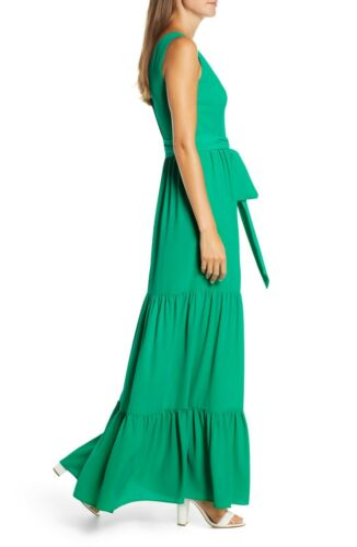$258 NEW Lilly Pulitzer MAURINE MAXI DRESS Emerald Isle Green Fit Flare  00  0