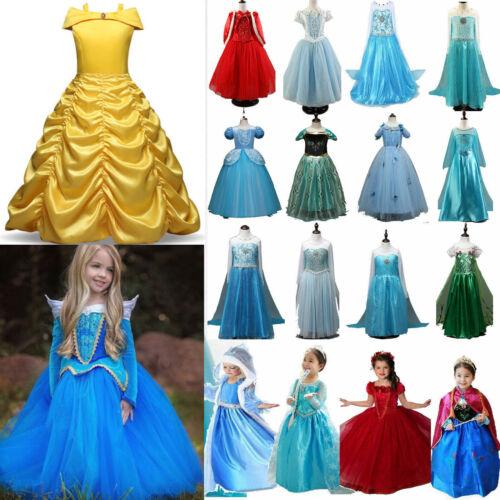 Froze Elsa Anna Kids Girls Dress Costume Princess Party Fancy Xmas Christmas