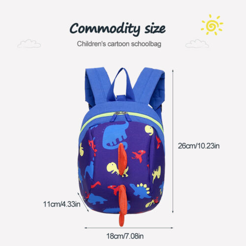 Cartoon Dinosaur. Baby Toddler Backpack Kids Safety Harness Strap Bag with