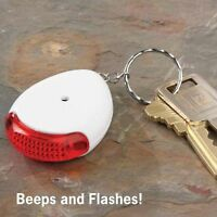 Key Finder Beeps Sound & Flashes Light Whistle To Find Car House Keys Sonic