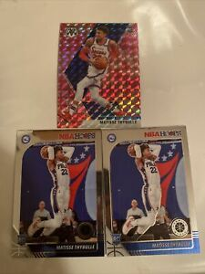 2020 Matisse Thybulle Lot (x3) Pink Camo Mosaic + Hoops Base X2 76ers