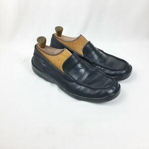 Mephisto-Men-039-s-Black-Genuine-Leather-Slip-On-Loafers-Size-8-5-US-8-EUR-EUC