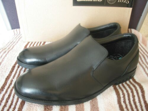NEW CLARKS RUFUS OLDER BOYS BLACK LEATHER SCHOOL SHOES VARIOUS SIZES