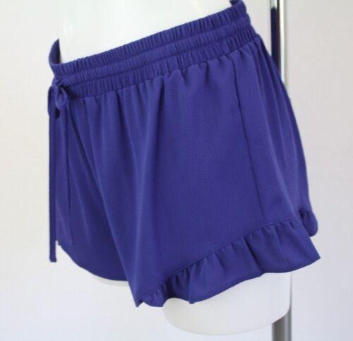 Nouveau Femme Ex Matalan Short Bleu Taille 8 10 12 14