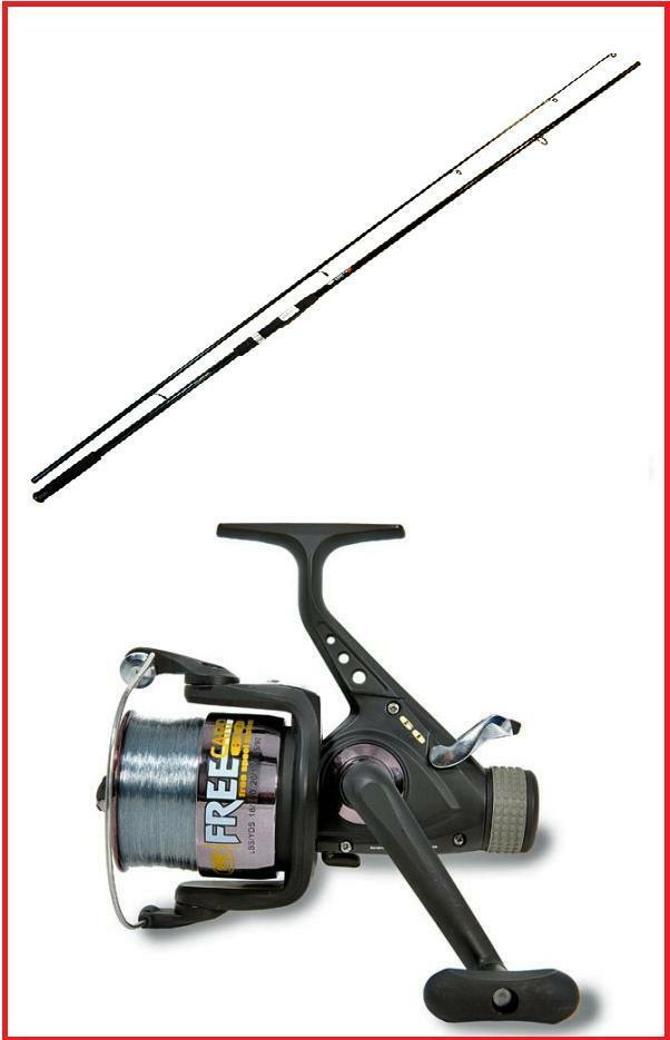 Carp Fishing Carbo Carp Rod + Lineaeffe Carp Fishing Reel with Line