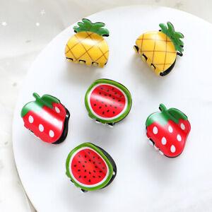 Eg-2-Pz-Banana-Fragole-Frutto-Mini-Clip-per-Capelli-Morsetto-Bambini-Ragazza
