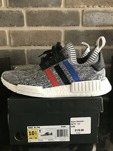 Adidas-NMD-R1-PK-Primeknit-size-10-5-Red-Blue-White-Tri-Color-BB2888-Ultra-Boost