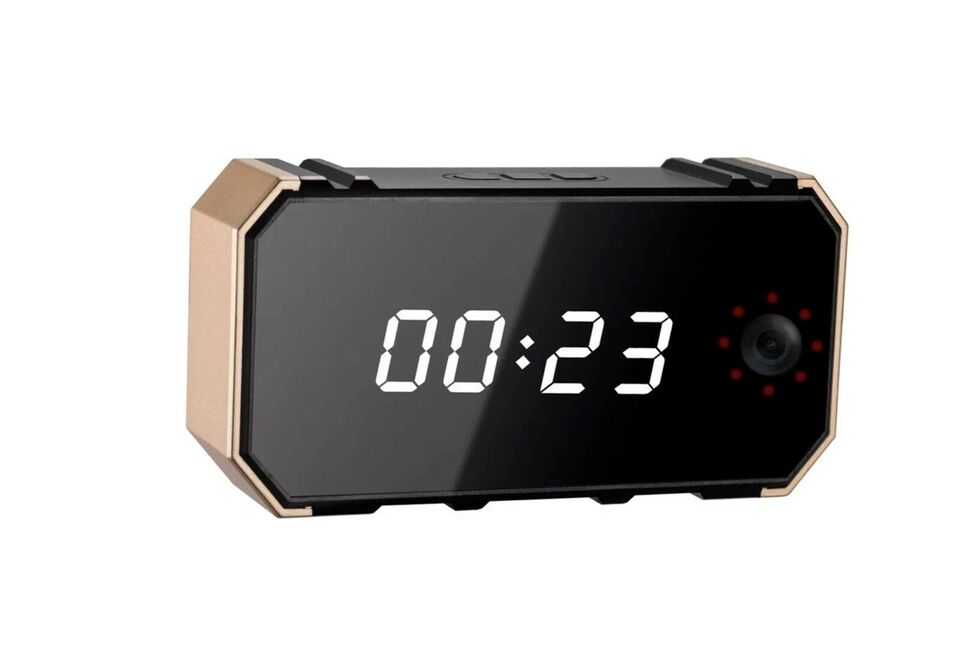 Kamera/kameraudstyr, WIFI Spionkamera i Alarmclock