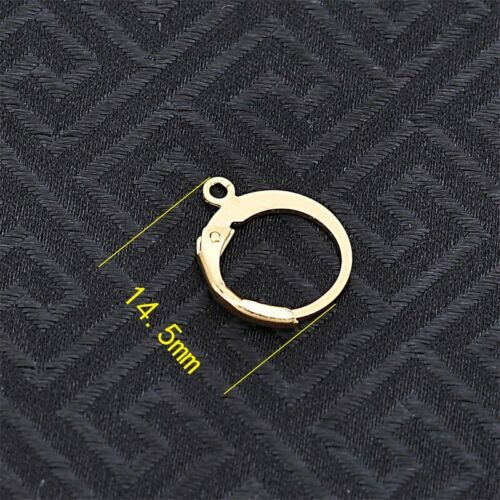 Gold//Silver Lever Back Earring French Hook Ear Wire Open Loop for Jewelry Making