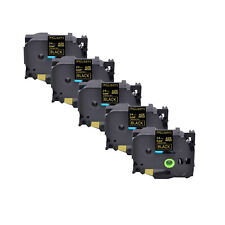 5pk 094 Compatible For Brother Tz 354 Tze 354 Gold On Black Label Tape 24mm