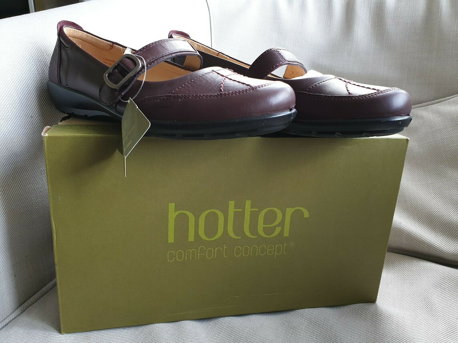 Hotter Carousel - Carou Womens Leather Loafers Brand New With Box Size UK 5.5